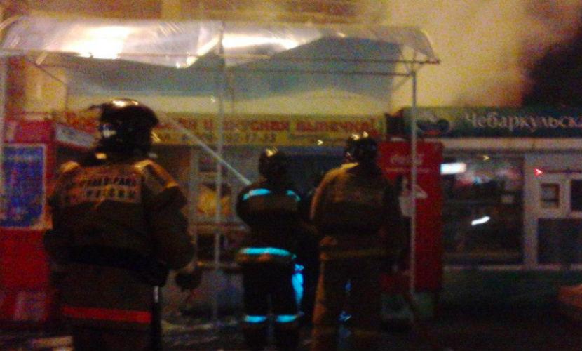 Взрыв разнес киоск с шаурмой в Челябинске