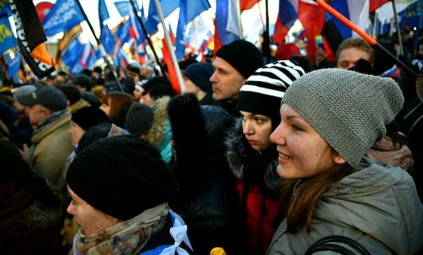 Митинг-концерт «Мы вместе» собрал в центре Москвы звезд политики, шоу-бизнеса и 100 тысяч россиян
