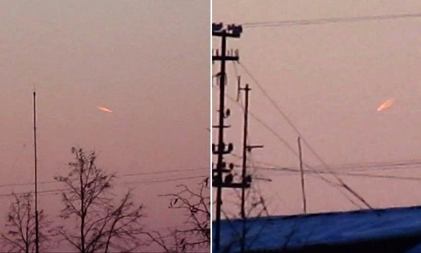 Два красных НЛО попали в объектив видеокамеры жителя Кемерово