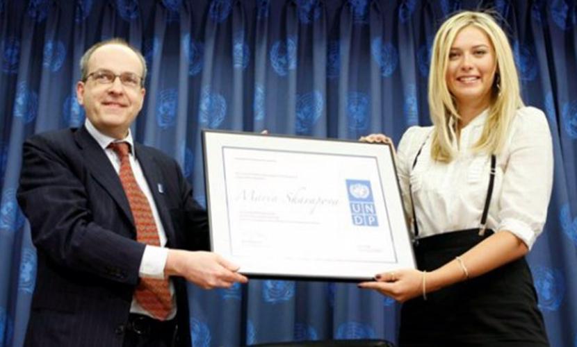 Мария Шарапова стала послом доброй воли ООН в 2007 году.