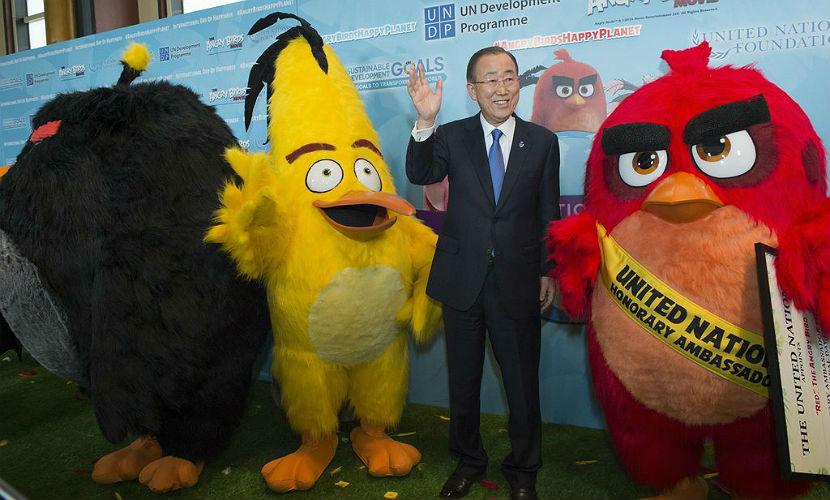 Персонаж из игры Angry Birds стал посланником ООН