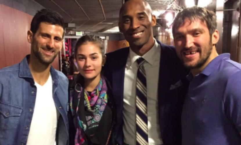 Три легенды мирового спорта - Овечкин, Джокович и Брайант - встретились в Лос-Анджелесе