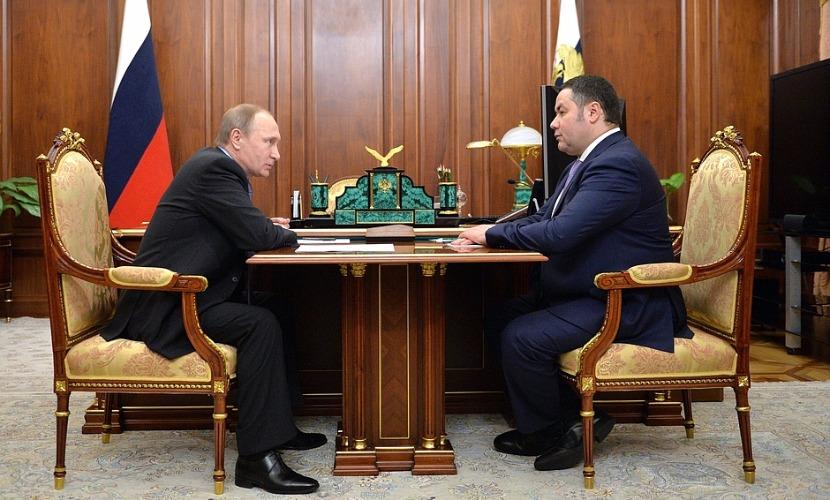 Путин новым главой Тверской области вместо Шевелева назначил Руденю
