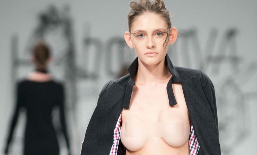 «Подпрыгивающая» обнаженная грудь звезды украинского телешоу оказалась эротическим конфузом