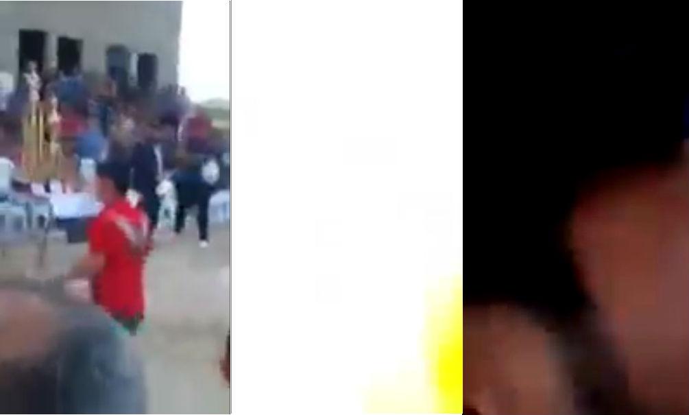 Болельщик снял на видео момент подрыва террориста-смертника на футбольном поле в Ираке