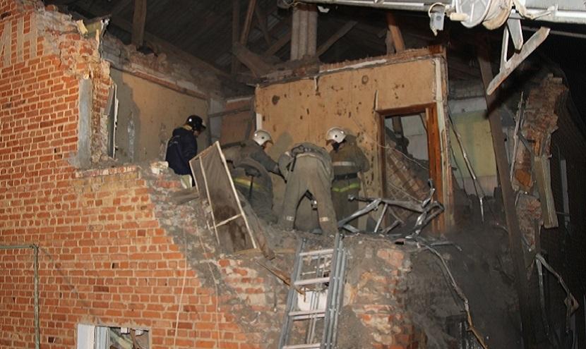 Взрыв уничтожил этаж жилого дома в Воронежской области