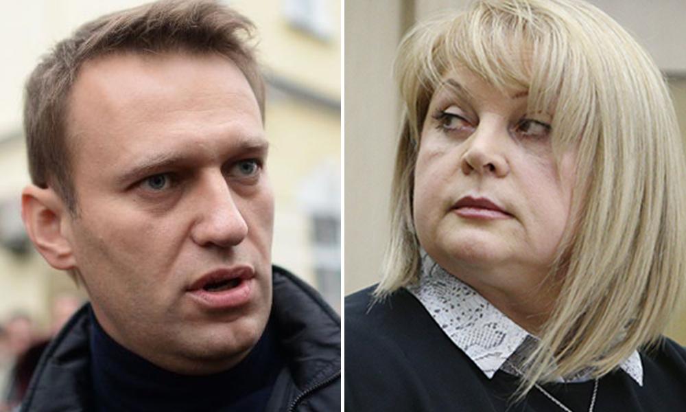 Сторонники Навального устроили скандал главе ЦИК Памфиловой во время выборов на Рублевке