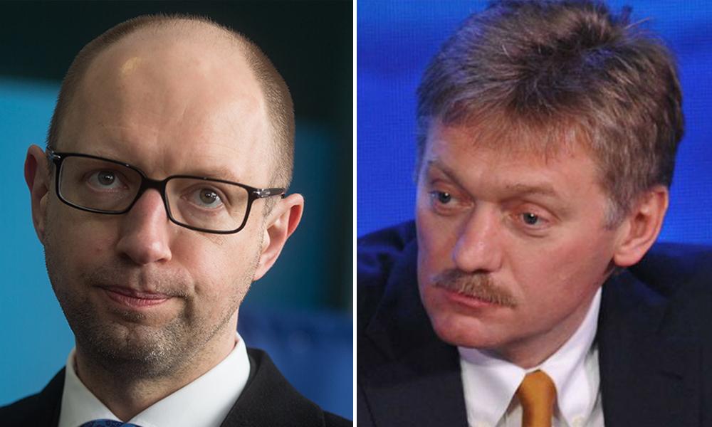 Яценюк не запомнился вкладом в нормализацию отношений с Россией, - Песков
