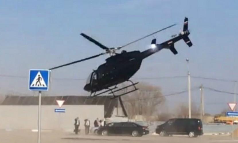 Скандальный экс-министр обороны Сердюков шокировал жителей Рязани, взлетев на вертолете с парковки супермаркета