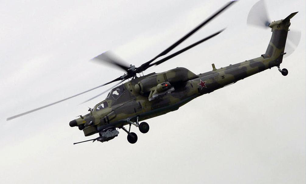 Российский ударный вертолет Ми-28H разбился в Сирии, пилоты погибли