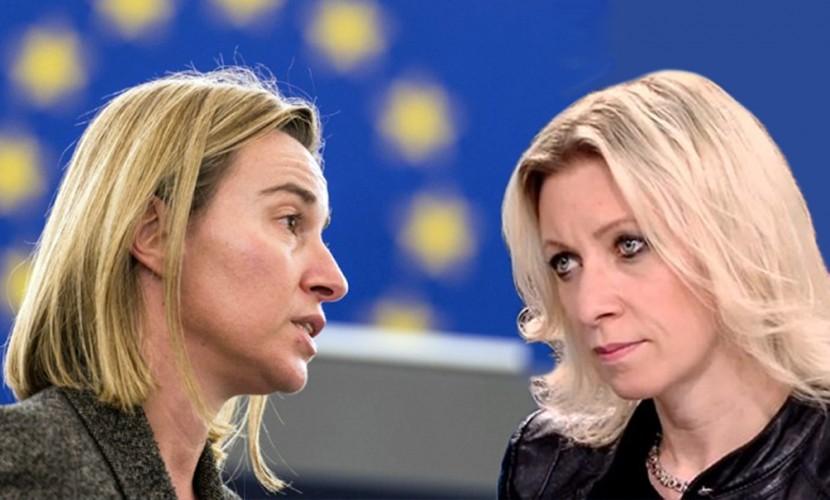 Захарова набросилась на Могерини с ответными обвинениями в адрес ЕС