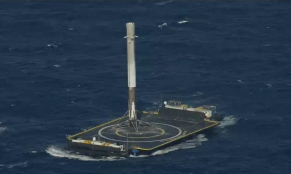SpaceX добилась успешной посадки ракеты Falcon 9 на морскую платформу
