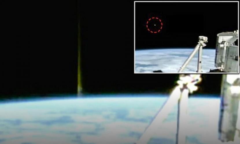Опубликовано сенсационное видео старта светящегося НЛО с Земли, снятое с борта МКС