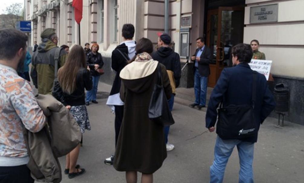В российской столице схвачен напавший нагостей «Мемориала» хулиган