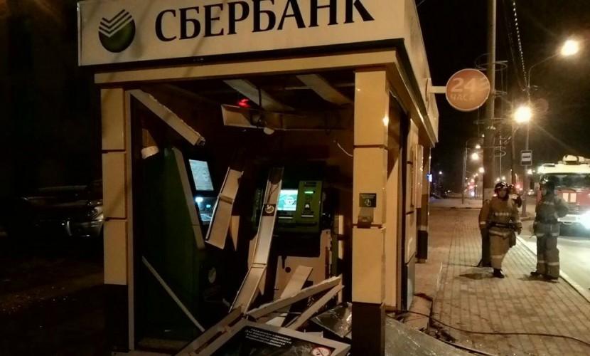 В Южно-Сахалинске взорвали павильон Сбербанка