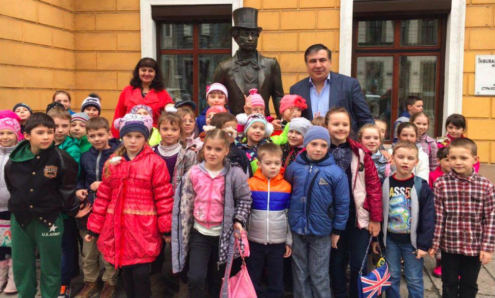 Саакашвили: Пушкин настойчиво хотел со мной сфотографироваться