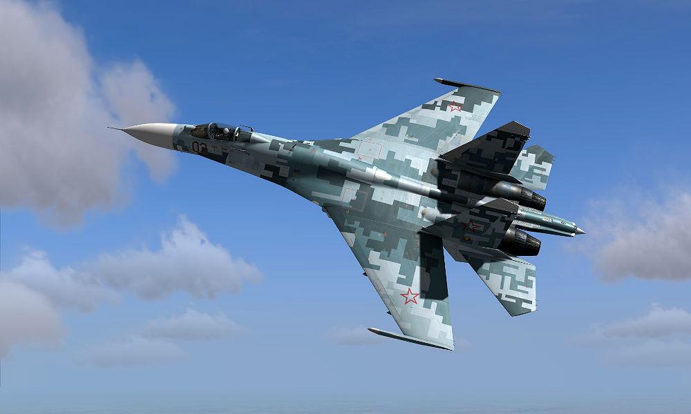 Российский истребитель Су-27 сделал «бочку» близ американского самолета и испугал военных США