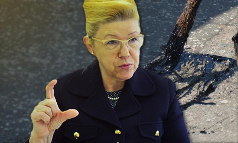 Сенатор Мизулина предложила запретить ямочный ремонт дорог после поездки в Омск