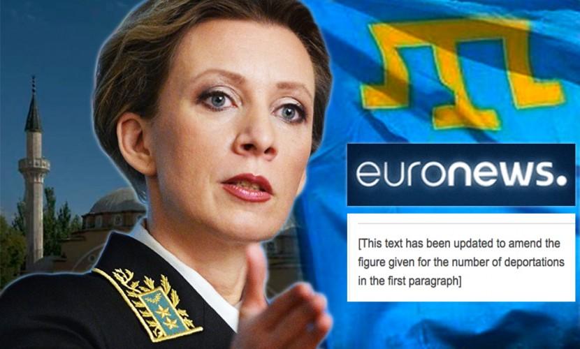Обвинения Захаровой во лжи вынудили европейский канал исправить ошибку в статье без извинений