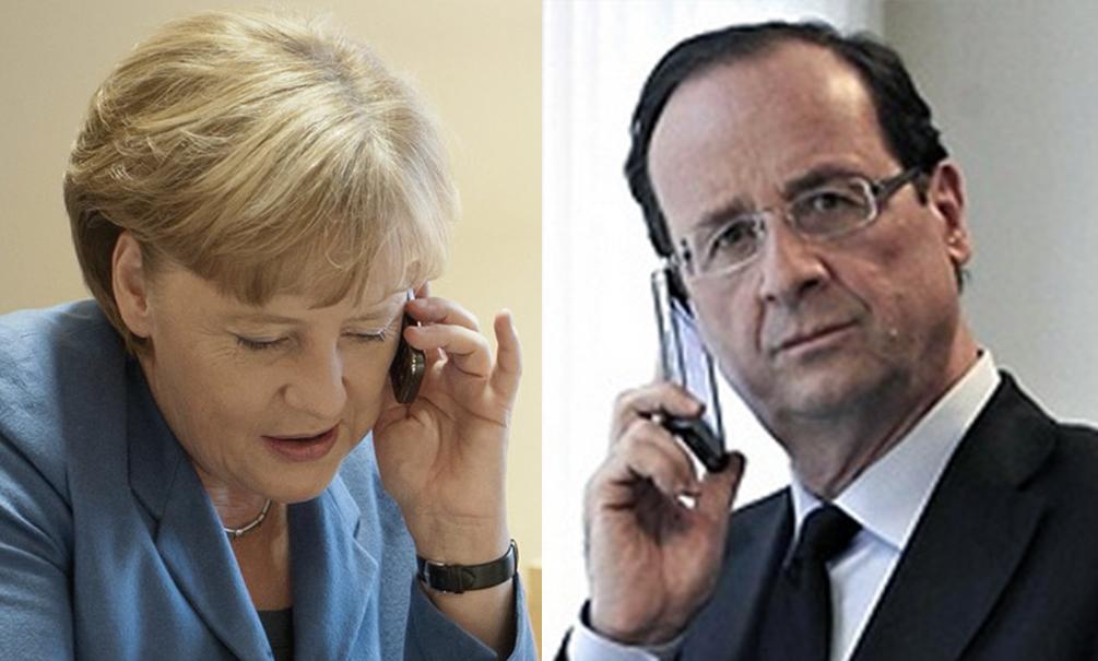 Ангела Меркель. Франсуа Олланд.