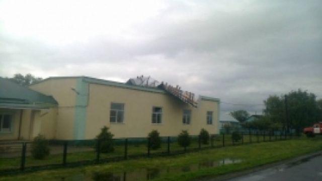 Сильный ветер сорвал крышу со школы в Рязанской области