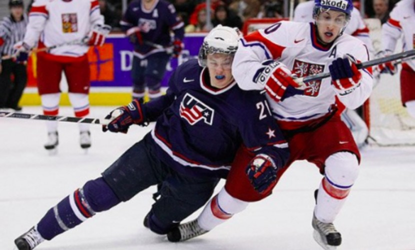 Американцы одолели чехов в матче хоккейного первенства планеты только по буллитам