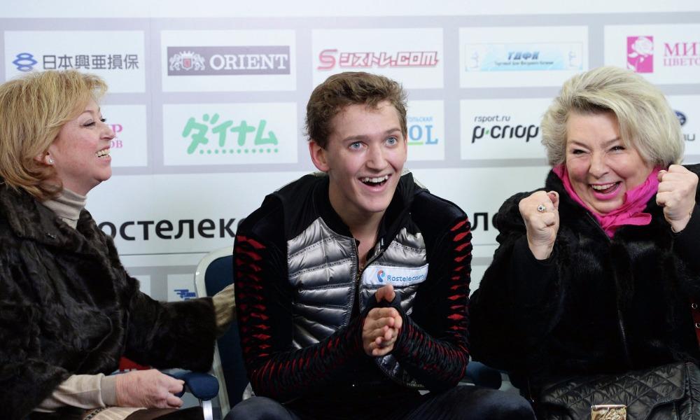 Елена Буянова (слева), Максим Ковтун и Татьяна Тарасова.