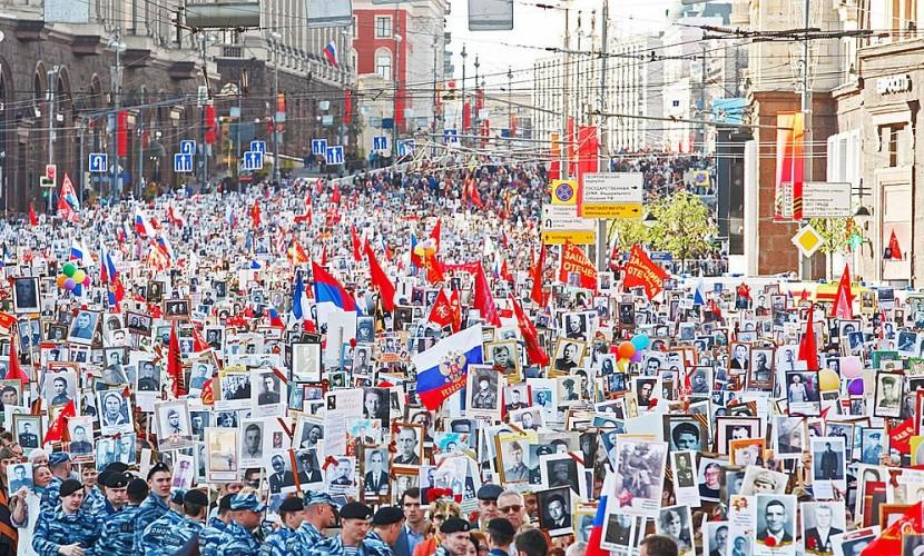Вшествии «Бессмертного полка» в столице приняло участие 700 тыс. человек— милиция