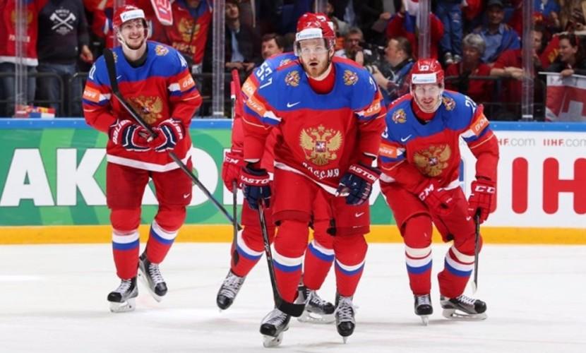 Россияне сыграли в московском матче чемпионата мира против норвежцев и в хоккей, и в теннис