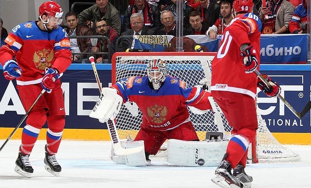 Сборная России по хоккею сыграла против Германии в стиле футбольной