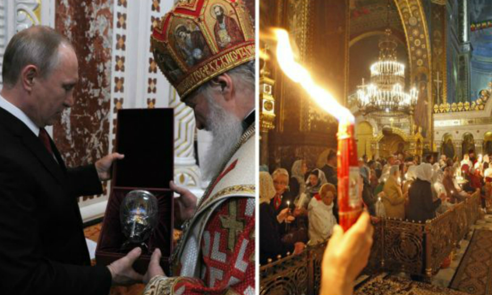 Владимир Путин получил от патриарха Кирилла ювелирные пасхальные яйца