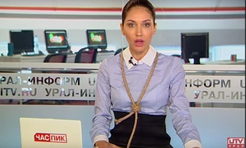 Журналисты Перми сунули головы в петли после отключения телеканала от вещания