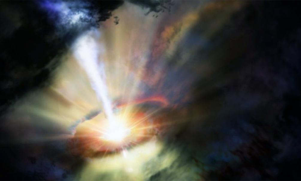 Аномальная черная дыра рождает звезды под космическим ливнем, - ученые