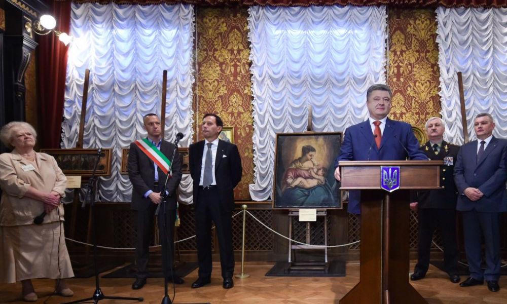Украденные картины великих живописцев сделали Порошенко почетным гражданином Вероны