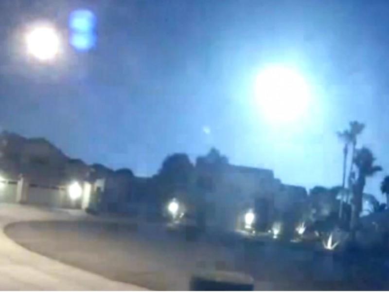 Потрясающее видео падения горящего астероида в США «ослепило» ученых NASA