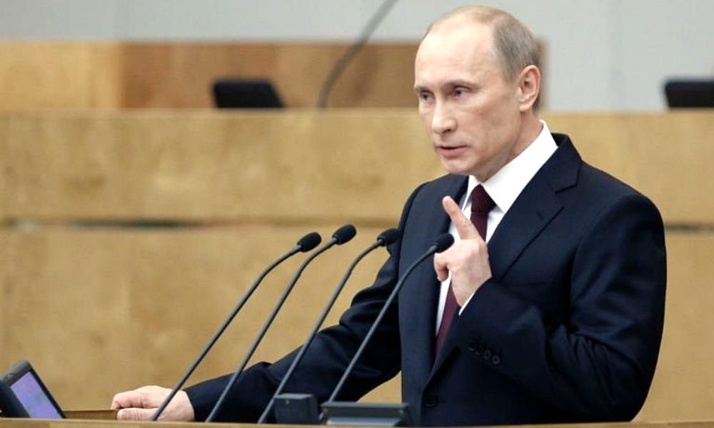 Путин начал выступление в Государственной думе с главной темы дня