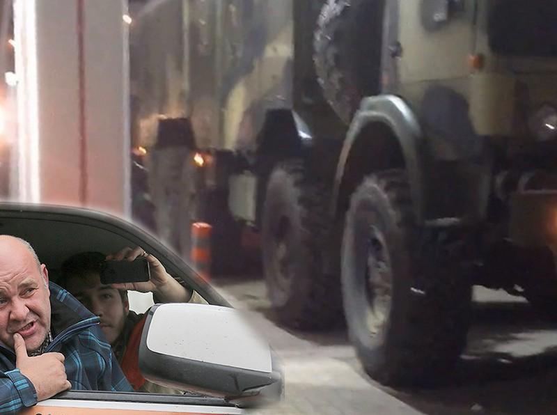 Заправка военного КамАЗа бензином вместо солярки на колонке