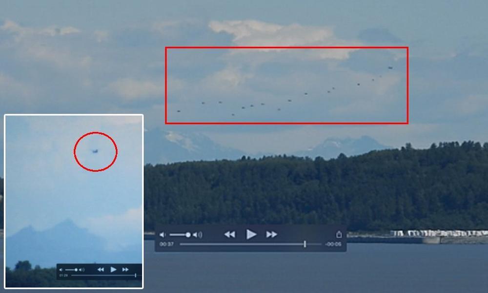 Эскадра инопланетян из 14 НЛО испугала жителей Аляски и «попалась» видеооператору