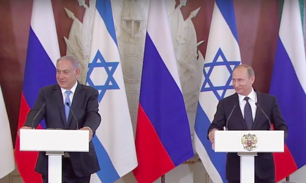 Путин после встречи с Нетаньяху посетовал, что в России немного людей говорят на иврите