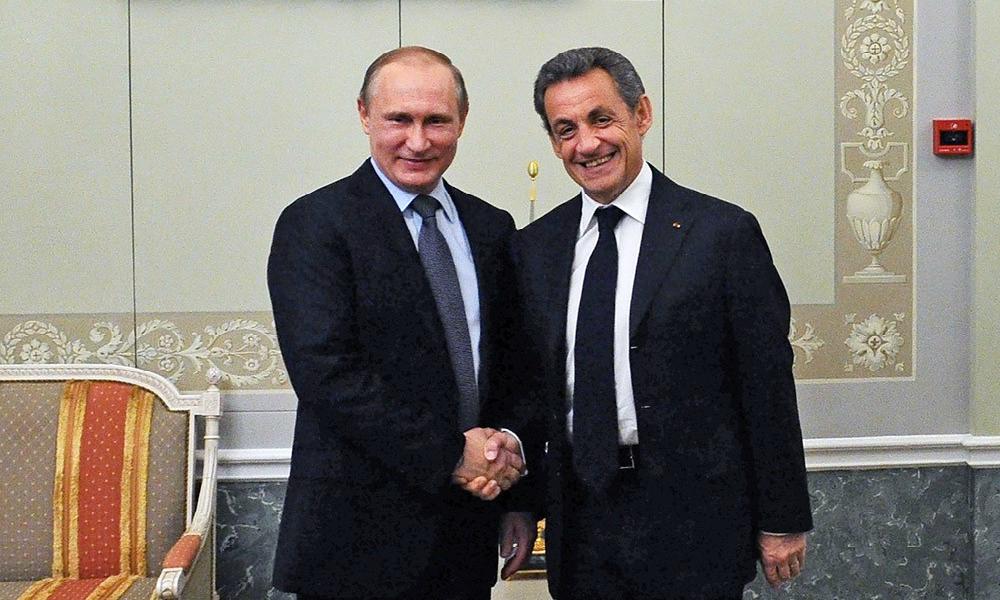 Путин пошутил на неформальной встрече с экс-президентом Франции Саркози
