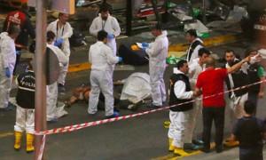 Опубликовано видео подрыва террориста после стрельбы в аэропорту Стамбула