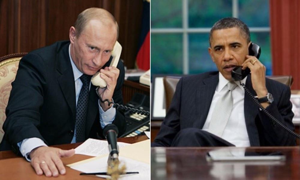 Путин с Обамой во время телефонного разговора обсудили ситуацию в Сирии и на Украине