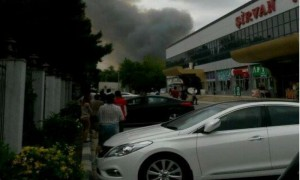 Опубликовано видео взрыва на оборонном заводе в Азербайджане, приведшего к многочисленным жертвам