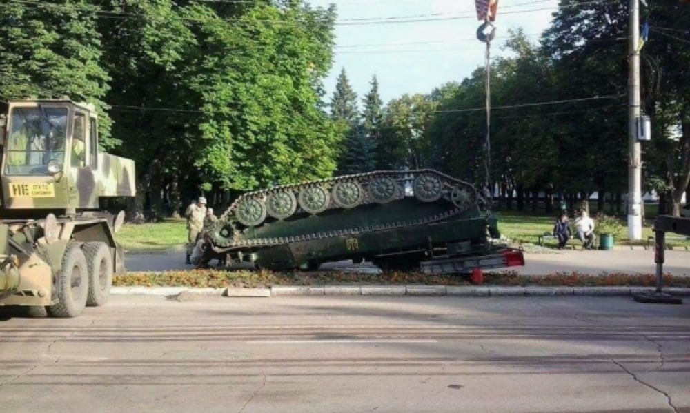 ЗРК «Стрела» перевернулся после парада в честь победы над Россией в Конотопской битве
