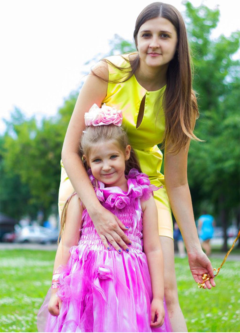 Лидия с дочерью.