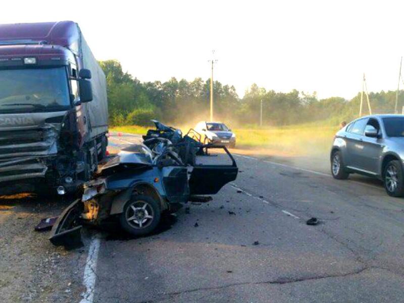 Ребенок и трое взрослых разбились в ДТП с грузовиком на трассе под Владимиром