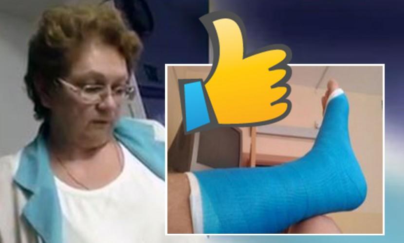 Мужчина со сломанной ногой снял на видео диагноз врача в Карелии: