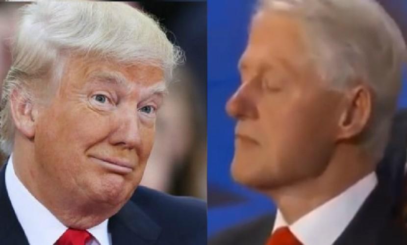 Трамп выложил в Сеть видео спящего Клинтона во время речи его жены на съезде демократов