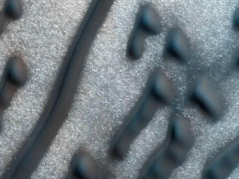 Зашифрованное азбукой Морзе «послание» возле Северного полюса Марса поразило уфологов