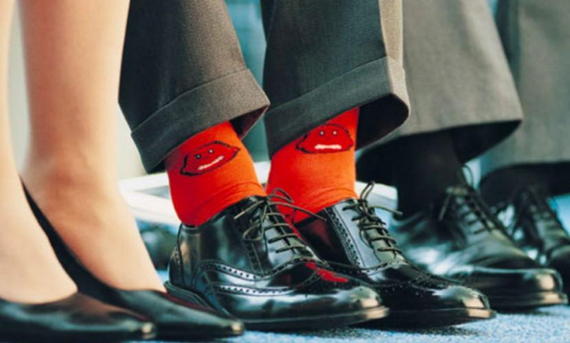Красные носки у мужчин